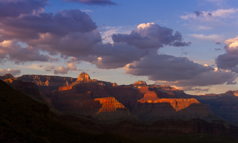 Grand Canyon National Park, Arizona. Cheops Temple Photographed from indian Gardens.