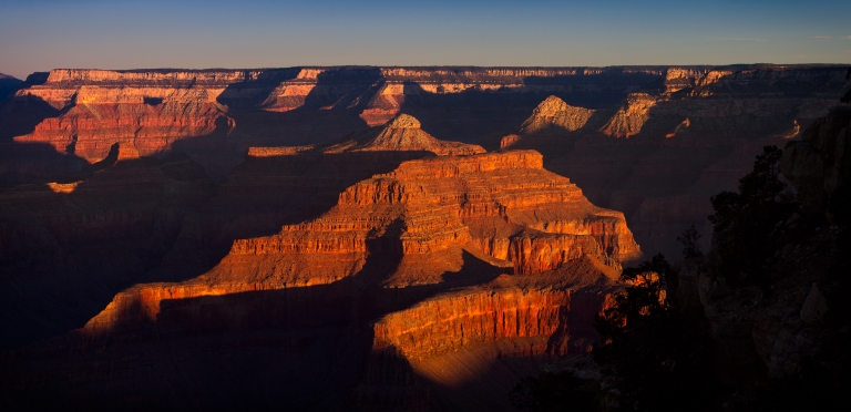 Grand Canyon Panorama Sunrise, taken from Mohave point, South Rim.